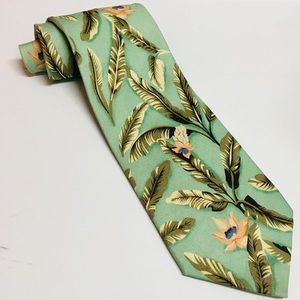 TOMMY BAHAMA Palm & Floral Neck Tie